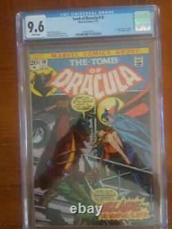Tomb Of Dracula 10 Cgc 9.6 White Pages First Blade Movie Coming Case Is clean