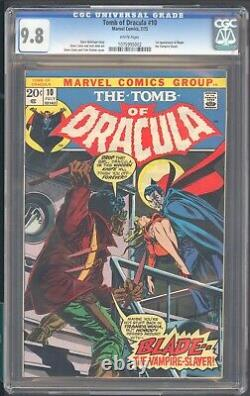 Tomb Of Dracula 10 Cgc 9.8 White Pages 1st App Of Blade The Vampire Slayer