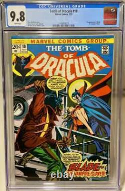 Tomb Of Dracula #10 Cgc 9.8 White Pages // 1st Appearance Of Blade 1973