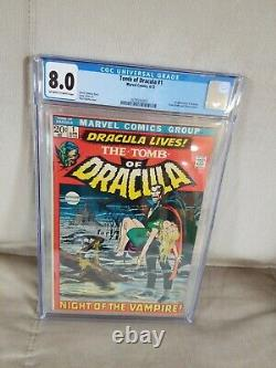 Tomb of Dracula #1, CGC 8.0, White Pages, 1st Appearance of Dracula, Unpressed