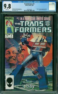 Transformers #1 CGC 9.8 Marvel 1984 1st & Origin! White Pages New Case L6 205 cm