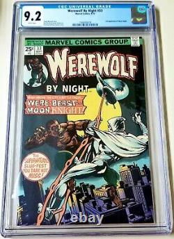Werewolf by Night #33 CGC 9.2 WHITE PAGES 2nd appearance Moon Knight DISNEY+