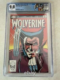 Wolverine #1 1982 CGC 9.8 Limited Series 1st Solo Frank Miller WHITE PAGES