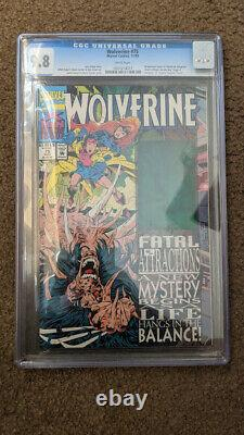 Wolverine 75 CGC 9.8 White Pages Hologram Cover Fatal Attractions, Slab NM+
