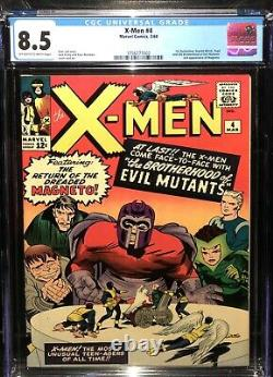 X-MEN 4 CGC 8.5 ow-WHITE PAGES 1st App QuickSilver & Scarlet Witch 3756777002