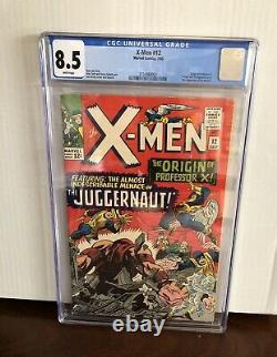 X-Men 12 CGC 8.5 White Pages Wow! Fresh Grade New Case Marvel 1st Juggernaut