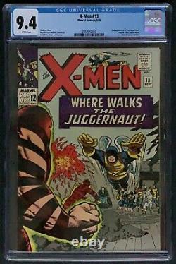 X-Men #13 CGC 9.4 Marvel 1965 White Pages Juggernaut