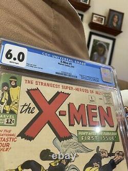 X-Men #1 1963 CGC 6.0 WHITE PAGES! 1st appearance X MEN. Silver Age Mega Key