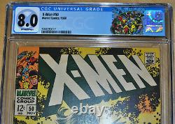 X-Men #50 CGC 8.0 (2nd App of Polaris. Origin of Beast) (OFF-WHITE PAGES)CLASSIC