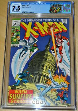 X-Men #64 CGC 7.5 (1st App of Sunfire Shiro Yoshida) OFF-WHITE to WHITE PAGES