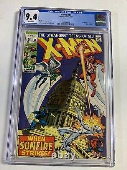 X-men 64 Cgc 9.4 White Pages 1st Sunfire Marvel Silver Age
